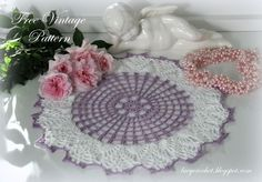 Lacy Crochet: Crochet Doily #6621, Free Vintage Pattern. This is a vintage doily pattern from Star Book #66 by American Thread Company, 1949.