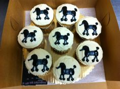Special request poodle cupcakes