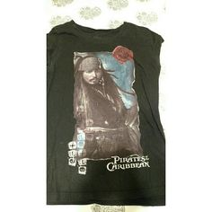Pirates of the Caribbean T-shirt This has been worn for awhile, but it is very comfortable. Tag says medium but it fits small. Will sell together with I ❤ Bubba tshirt for $8. Tops Tees - Short Sleeve