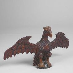 Front view of one of Schimmel's eagles.