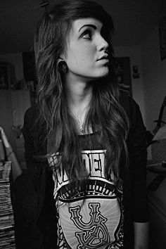 Pretty Girl with Plugs by dreamersarewelcome, via Flickr