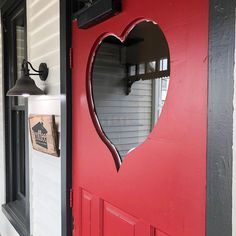Happy Valentine's Day! ❤️ We had to stop by our favorite heart-shaped door in and pay a visit to our friends at… Nashville, Tennessee, Doors, Mirror, Friends, Heart, Happy, Instagram, Home Decor