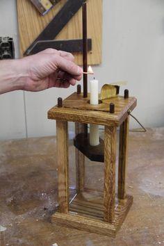 Wood Choppin' Time - Wooden Lantern