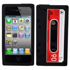 Tough Firm Shock Proof Black Rubber Case With Cassette Design For Apple Iphone 4 Apple Iphone, Iphone 4, Iphone Cases, Safari, Cool Cases, Iphone Accessories, E Bay, Ipod Touch, Cassette Tape