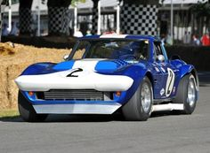 Chevrolet Corvette Grand Sport - Created under famed Corvette chief engineer Zora Arkus-Duntov to combat Ford's Shelby Cobra, the Grand Sport was powered by an aluminum 377 cubic inch V8 producing upwards of 550 hp. Chassis number 003 was raced in period by Jim Hall, A.J. Foyt and others.