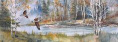 Watercolor Paintings lance johnson | Found on sunriseartgallerymt.com Watercolor Landscape, Watercolor Paintings, Watercolor Techniques, Art Forms, Kids Playing, Amazing Art, Sunrise, Art Gallery, Artwork