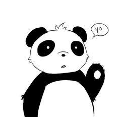 панда арт :3