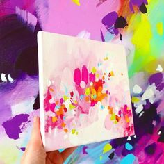 Small Paintings, Original Paintings, Colorful Abstract Art, Hand Painting Art, Different Light, Types Of Art, Art Decor, Art Projects, Hand Painted
