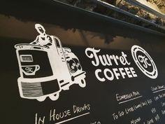 ◆Turret COFFEE :築地 Coffee Milk, Four Square, Latte, Restaurants, Drinks, Drinking, Beverages, Coffee Latte, Restaurant