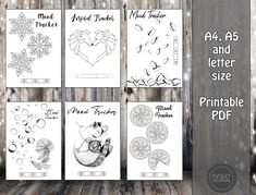 Bullet journal mood trackers - Hand Drawn Style - Printable - 2021 Bujo - Calendar - Filofax A5, A4, Letter - Planner Inserts - mood tracker Evoletjournal etsy April Bullet Journal, Bullet Journal Mood, Bullet Journal Spread, Mood Tracker, Planner Inserts, Letter Size, Journal Pages, Filofax, As You Like