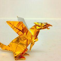 #origami golden dragon