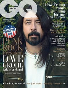 In this interview Foo Fighters frontman Dave Grohl, GQ talks pre-gig tear-ups, punk-rock heirs and dreams that died, came true and live on Dave Grohl, Foo Fighters, Nirvana, Gq Magazine Covers, Theater, Norman Jean Roy, Letitia Wright, Uk Magazines, Male Fashion Trends