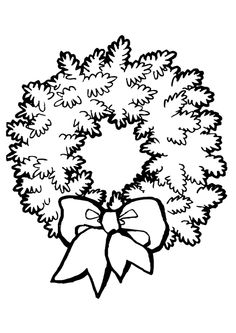 Une couronne de Noël à parer de jolies couleurs et  à décorer