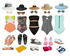 """""""Beach day choices...last of summer in style."""" by tori-holbrook-th on Polyvore featuring Norma Kamali, Lisa Marie Fernandez, Lygia & Nanny, Melissa, Olgana, Rampage, Nordstrom, Billabong, Eugenia Kim and Sensi Studio"""