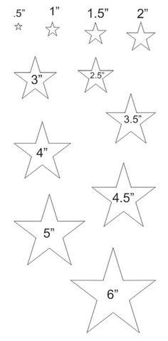 206 best christmas decorations images christmas ornaments Reclaimed Wood Projects stars stencil with 11 total sizes 1 2 6 for painting signs scrapbook primitive airbrush crafts wall decor
