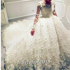 Cool Great 2018 New White/Ivory Long sleeve Wedding Dress Bridal Ball Gown Custom Size 2-28 2018 Check more at http://fashion-look.top/product/great-2018-new-whiteivory-long-sleeve-wedding-dress-bridal-ball-gown-custom-size-2-28-2018/