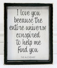Take a look at this 'I Love You' Framed Sign today!