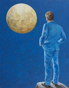 Melancholy Man - Risto Suomi , 2011 Acrylic on canvas , 140 x 110 cm Melancholy, Finland, Galaxies, Moonlight, Artsy, History, Canvas, Gallery, Drawings