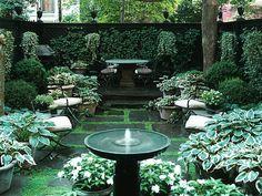Área externa com jardim Arquiteto: Sawyer Berson