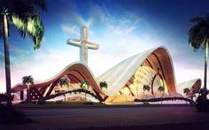 Santa Maria del Mar Basilica, Cancun City, eastern Mexico Design: sanzpont [arquitectura]