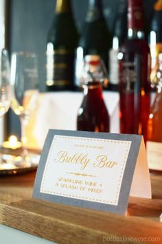 The Bottles Blog: Holiday Party Idea: Self-Serve Bubbly Bar! Free Printable Sign!