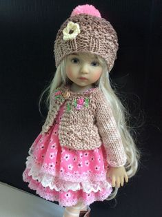"Outfit for Dianna Effner Doll Little Darling 13"" 4pc. #Yuree"
