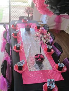 "Photo 13 of 24: pink, black and zebra! / Birthday ""Rockstar Diva Party"" 