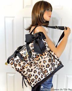 07c6868d2d02 Betsey Johnson Leopard Diamond Quilt Backpack