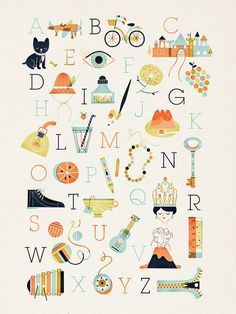 darling alphabet poster
