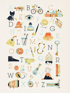 darling alphabet poster