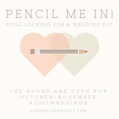 I just booked a #NYEWedding! Still Looking for a Wedding DJ? My Books are OPEN for October/November #2017WEDDINGS