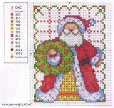 SANTA CLAUS pto cruz- Las chorradikas de Laury: Patrones Santa Claus en punto de cruz