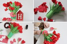 Diy And Crafts, Crafts For Kids, Paper Crafts, Spring Activities, Activities For Kids, Fake Flowers, Projects To Try, Clip Art, Valentines