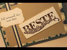 Antesten : Beste Wünsche Kombi Gruß nach Maß? mit Stampin UP - YouTube