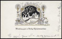 All sizes   Cottage Christmas Card, 1920's, via Flickr.