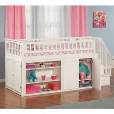 Mini Stair Twin Loft Bunk Bed - Bunk Beds & Loft Beds at Hayneedle