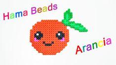Arancia Kawaii con Hama Beads / Perler Beads Orange ✿