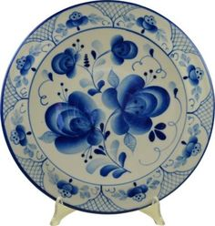 Mediterranee Antiques Vintage Hand-Painted Russian Plate