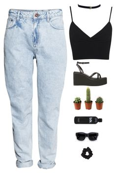 mom jeans.  ig grecipaola tumblr: seasidepainter by gre17 on Polyvore featuring Miss Selfridge, H&M and Acne Studios