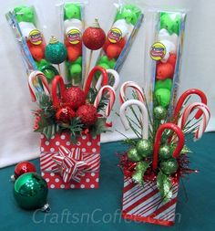 A quick Christmas gift idea: Make a Christmas Candy Bouquet | Crafts 'n Coffee