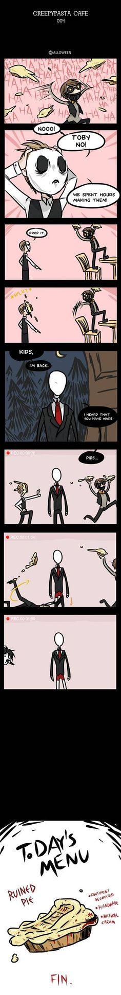 Laughing Jack / Eyeless Jack / Jeff the killer / Slenderman / Masky / Hoodie / Ticci Toby I think Slender is the owner. here's the comics: alloween. Scary Stories, Horror Stories, Creepypasta Proxy, Creepypasta Quotes, Creepy Pasta Family, Emo, Laughing Jack, Jeff The Killer, Creepy Art