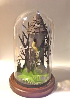 Rapunzel Fairytale Glass Dome by Frubean on Etsy, £90.00