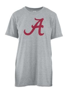 Royce Women's University Of Alabama Blume Short Sleeve Tee - Gray - Xl