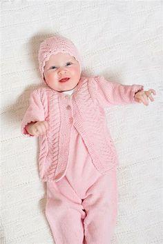 1309: Modell 14 Sparkebukse og jakke #strikk #bomull #knit #cotton