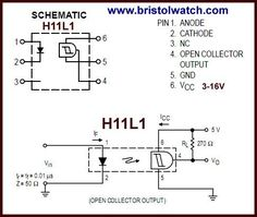 H11L1 pin connections.