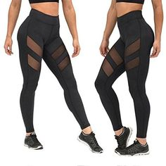Clothing Cycling FakeFace Womens Girls Gym Training Leggings Patterned Jogger Pants High Waist