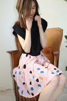 This silky skirt is perfect for spring.