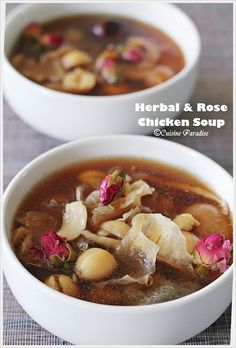 Herbal And Rose Chicken Soup
