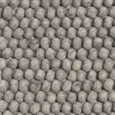 HAY - Peas Teppich - 140 x 200 cm - medium grey - indoor