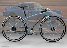 "Porsche bike - Semi-finalist in the Fast Company / Porsche ""Next Design Challenge"" My bike design shares the core 911 attributes: light, fast, simple, durable, timeless. The Porsche iconic design det. Velo Design, Bicycle Design, 360 Design, Porsche 911, Wood Bike, Urban Bike, Road Bike Women, Bike Style, Porsche Design"